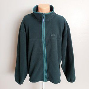 L.L. Bean Green Fleece Zip Up Jacket
